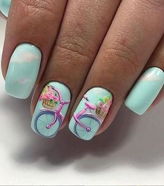 Short Square Nails Art Design For Summer Nails blue square nails Acrylic square nails pretty nails short square nails art design summer nails short coffin nails design. Square Nail Designs, Cute Nail Designs, Short Square Nails, Short Nails, New Nail Art, Super Nails, Nagel Gel, Flower Nails, Beautiful Nail Art