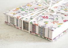 Love the different ribbons under the stitching on this handmade journal  by Card Couture Creations