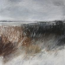 'Stark Hedgerows in Winter' by Janine Baldwin. Pastel on paper, x This artwork was inspired by the beautiful contrasting colours of winter- dark, dense hedgerows against soft white snow. I have created the work with several layers of pastel to Pastel Landscape, Landscape Artwork, Landscape Drawings, Abstract Landscape Painting, Contemporary Landscape, Landscape Illustration, Winter Landscape, Watercolor Landscape, Abstract Watercolor