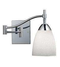 ELK Lighting Celina 1 Light Swingarm Sconce in Polished Chrome 10151/1PC-WH #lighting