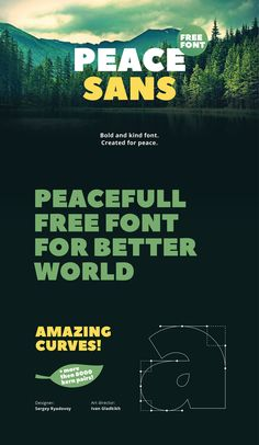 Peace Sans is a free bold font made with love! It can make your typography more peacefull and kind. Use it any way, its absolutely free. It was created in the learning process in TypeType School. Peace! ;)
