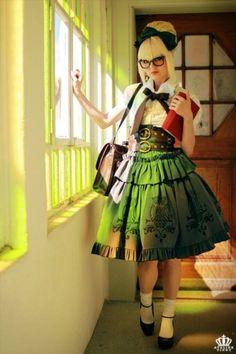 How the skirt folds, hemming, a-line shape