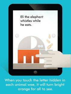 ipad app: wee alphas.