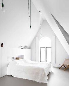 White spacious bedroom
