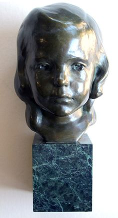 a beautifully rendered american 1940's bronze bust of a young girl on marble plinth; signed 'j.g. kendall 1940, gorham co. founders', dated 1940 @Epoca San Francisco http://eepurl.com/FSHJ9 and http://epocasf.com/tearsheet.aspx?epitemnumber=3826