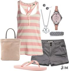Pink Stripe, created by jayneann1809 on Polyvore