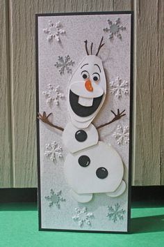 Celebrate your next party with this silly snowman. This card is a perfect party invitation/birthday card for any child you know!    This card
