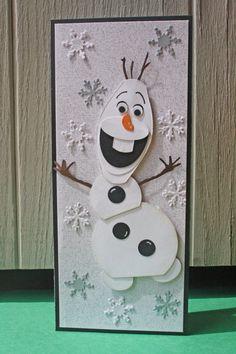 Olaf Handmade Card - Snowman, Frozen - $5.00 - Hoot  Toot's Loot