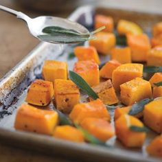 Roasted Butternut Squash with Brown Butter and Sage #GlutenFree