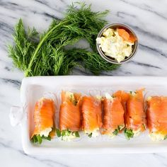 Salmon, egg salad and fresh dill -- a fabulous spring combination in one easy appetizer!