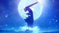 HD wallpaper: black swordsman berserk berserk armor moon, one person, nature