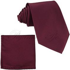 New Men's Solid WINE BURGUNDY Italy Design Necktie by WeddingTux