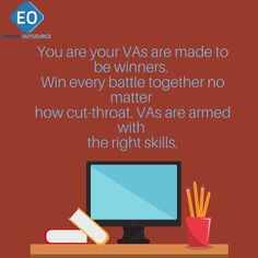 You are your VAs are made to be winners.  Win every battle together no matter  how cut-throat. VAs are armed with  the right skills.  #outsource #dropshipping #dropshipper #wordpress #attraction #business #b2b #b2c #biztip #howto #DIY #consumer #MarketingTips . #marketing #mktg #GlobalMarketing #DigitalMarketing #SocialMedia #globalisation #copywriting #socialmediamanagement #shopify #WordPress #winnertips #Tips Copywriting, Attraction, Digital Marketing, Battle, Wordpress, Positivity, Social Media, Business, Tips