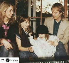 Tom Petty with wife Jane and their two daughters. Jane Benyo, Petty Lyrics, Losing Your Best Friend, Judas Priest, Rockn Roll, Two Daughters, Rock Legends, Ex Wives, Eric Clapton