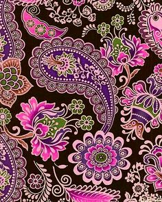 Love the colors! Pink purple green on black background!