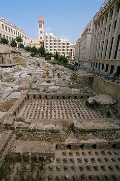 """Roman baths, downtown Beirut, Lebanon"" by Ian Cowe 2008-02-28 iancowe @flickr 2298027094"