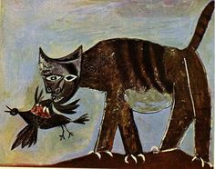 A Pablo Picasso Art Gallery Kunst Picasso, Art Picasso, Picasso Paintings, Picasso Images, Picasso Blue, Picasso Style, Animal Paintings, Guernica, Cubist Movement