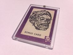 Very Rare 1963 Terror Monster Bonus Card Shock Monster HTF