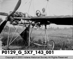 Early Airplane and Pilot - Likely johnson plane based on look & photo shop - IHS