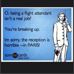 I was told by a friend that being a flight attendant is just a glorified waitress in the sky! And then guess who later was asking for BP's?!