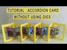 Swing Card Tutorial | Flip Card | How to make card | Scrapbook - YouTube