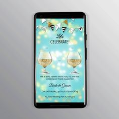 Glitter filled cheers invitation. Any design wishes; Contact Us. Designer Swapnil- NIFT Alumni