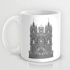 HexArchi - Portugal, Alcobaça, Mosteiro de Santa Maria . Igreja Mug by LAA-Laboratório De Arquitectura E Arte | Society6