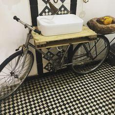 Design inspo with a bicycle vanity looks great Bathroom Renovations Melbourne, Vanity Bathroom, Pergola, Bicycle, Design, Bike, Bicycle Kick, Outdoor Pergola