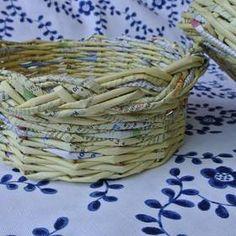 Copánková uzavírka / pletení z papíru