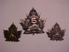 Pioneer Battalion Cap and collar set Canadian Army, Military Insignia, Coat Of Arms, First World, Badges, Patches, Clock, Museum, Canada