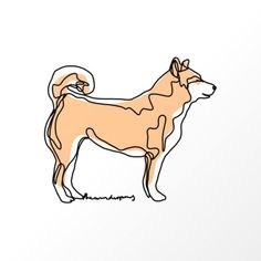 Cute Dog Pictures, Animal Pictures, Siberian Husky Puppies, Siberian Huskies, Corgi Puppies, One Line Animals, Dog Line Art, Cat Tattoo, Dog Tattoos