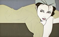 Grey Lady (1982) by Patrick Nagel