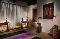 Yoga Meditation Room Inspiration    Having your own little space at home is very important I think as it is a place where you calm down, declutter, exercise and relax.