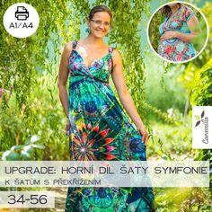 UPGRADE: Šaty symfonie – 34 – 56 (horní díl) – Caramilla.cz Horn, Lily Pulitzer, Summer Dresses, Fashion, Tunic, Moda, Summer Sundresses, Fashion Styles, Horns