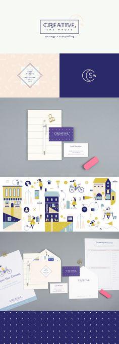 Creative, She Wrote brand identity   Spruce Rd.   logo design, illustration, content marketing, worksheet design, branding, online brand