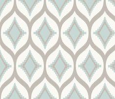 Aztec Diamond Bird's Egg fabric by crisbucknall on Spoonflower - custom fabric