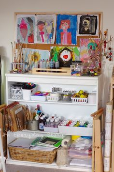 The Art Shelves: A Tour of Our Reggio Inspired Homeschool Room - An Everyday Story