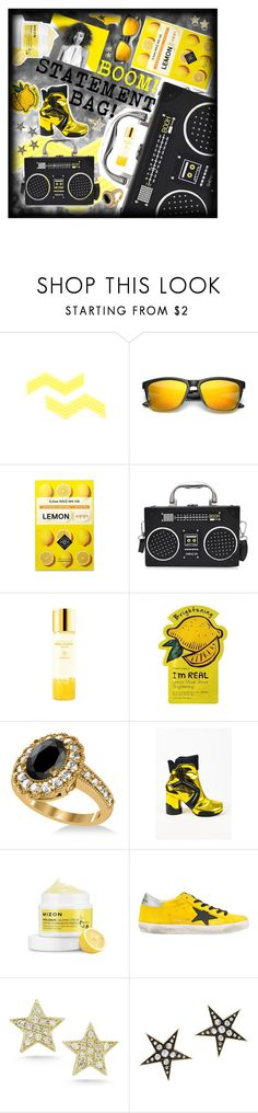 """""""BOOM! Statement bag!"""" by beanpod ❤ liked on Polyvore featuring Paul Mitchell, SkinCare, Allurez, Maison Margiela, Golden Goose, JULIANNE, London Road and Vintage"""