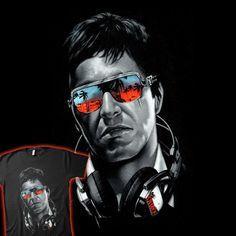 Scarface (Al Pacino) Don Corleone, Arte Black, Arte Nerd, Image Film, Al Pacino, Hip Hop Art, Chicano Art, Dope Art, Caricatures