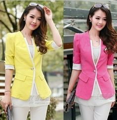 2013 V-neck one button blazer long-sleeve female formal color block decoration slim outerwear  free shipping