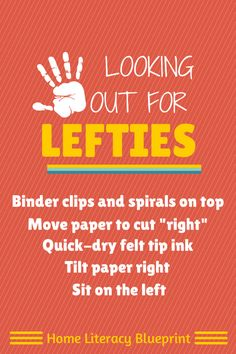 Five handy tips to help young left-handed writers.