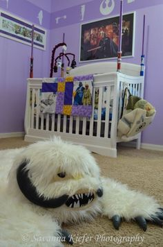 Star Wars themed girl's nursery - more pics at the link of the rest of the room. It's worth a look