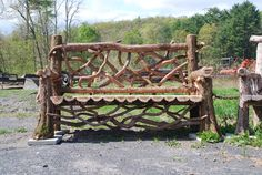 'Putnam Bench' (6' Bench) - This bench was an experiment in combining Eastern Red Cedar with Mountain Laurel.