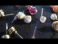 Como hacer Zarcillos rapido - YouTube Wire Wrapped Jewelry, Wire Jewelry, Jewelry Crafts, Jewelry Art, Gemstone Jewelry, Beaded Jewelry, Jewelry Making Tutorials, Beading Tutorials, Jewelry Making Supplies