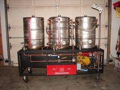 Single tier herms brew rig
