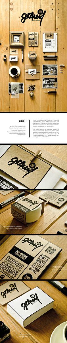 Brand Identity | grAund, coffee&aloe cream on Behance