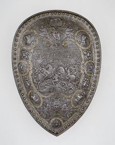 Shield of Henry II of France, c. 1555  Probably after designs by Étienne Delaune