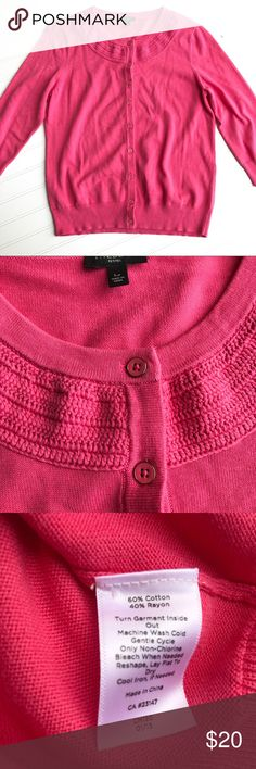 Talbots Pink Sweater, Gold Buttons, Size LP Talbots Pink Sweater, Gold Buttons, Three Quarter Sleeves. Size LP  Like new condition. Comes from a smoke free home. Check out my other listings for a bundle deal! Happy Shopping🛍🛍 Talbots Sweaters Cardigans
