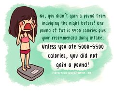 No, you didn't gain a pound....