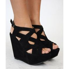 Half covered and half uncovered wedges